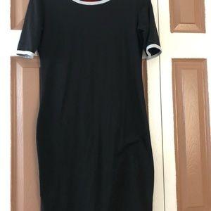 Lularoe Julia Black Dress Small